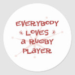 Everybody Loves A Rugby Player Stickers
