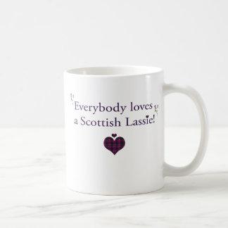 Everybody loves a Scottish lassie! Basic White Mug