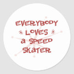 Everybody Loves A Speed Skater Stickers