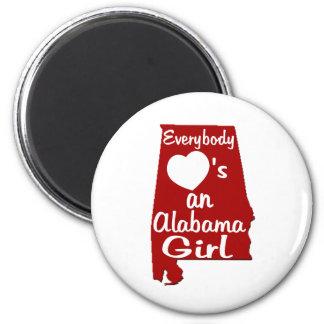 Everybody Loves an Alabama Girl Fridge Magnet