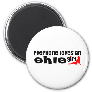 Everybody loves an Ohio Girl 6 Cm Round Magnet