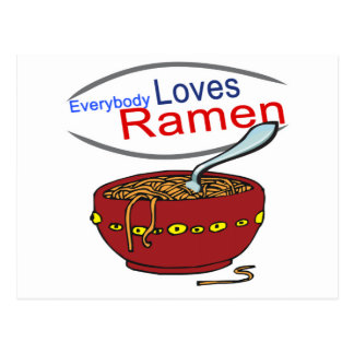 Everybody Loves Ramen Parody Post Cards