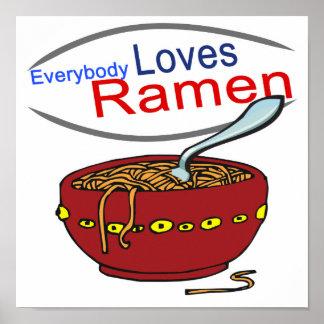 Everybody Loves Ramen Parody Poster
