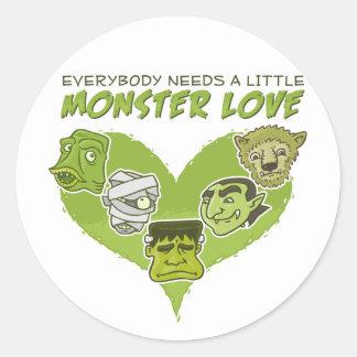 Everybody Needs a Little Monster Love Round Sticker