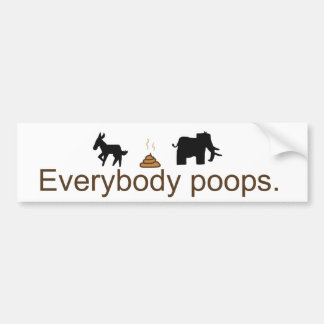 Everybody Poops Bumper Sticker