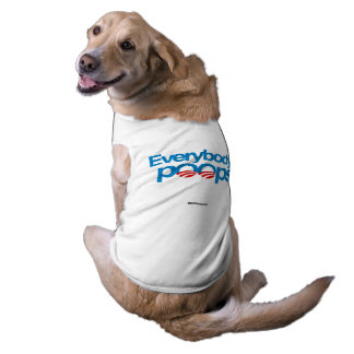 Everybody poops sleeveless dog shirt