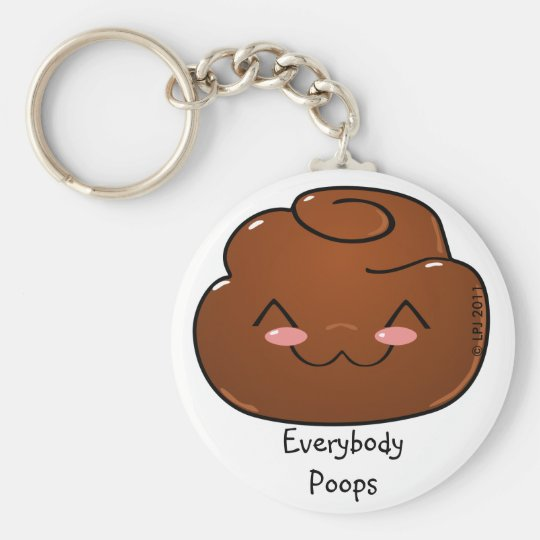 Everybody Poops Happy Poo Keychain