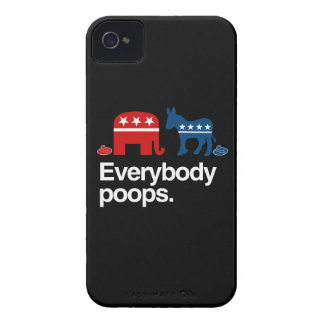 EVERYBODY POOPS POLITICAL iPhone 4 Case-Mate CASES