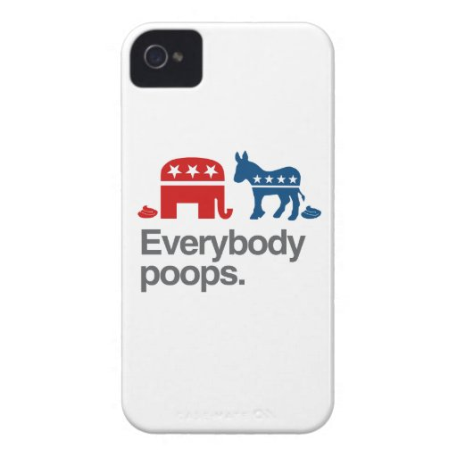 EVERYBODY POOPS POLITICAL.png Blackberry Bold Covers