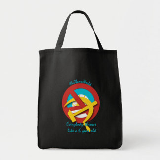 Everybody throws like a 6 yr old grocery tote bag