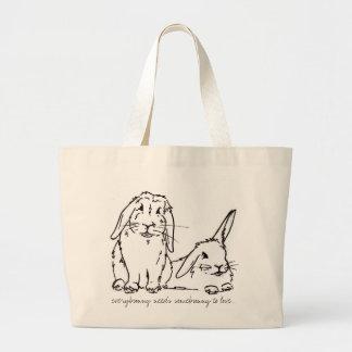 Everybunny needs somebunny to love large tote bag