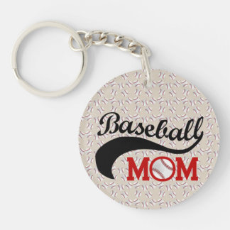 Everyday Baseball Mom Sporty Single-Sided Round Acrylic Key Ring