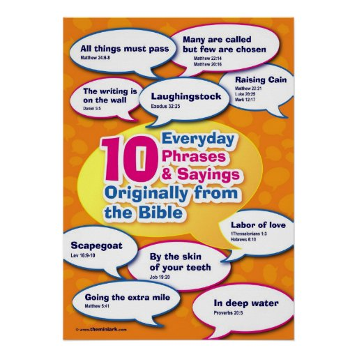 Everyday Bible Phrases 1 Posters