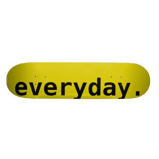 Everyday Blank, Yellow Skateboard Deck