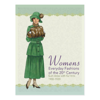 Everyday Fashions: Suite Dress Postcard