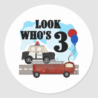 Everyday Heroes 3rd Birthday Round Sticker