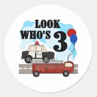 Everyday Heroes 3rd Birthday Round Stickers