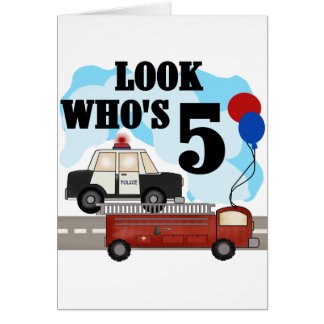Everyday Heroes 5th Birthday Tshirts Card
