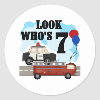 Everyday Heroes 7th Birthday Round Sticker