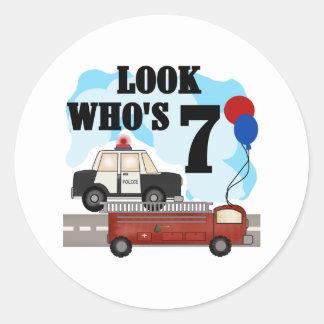 Everyday Heroes 7th Birthday Round Sticker