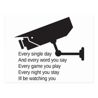 Everyday I m Watching You Post Card