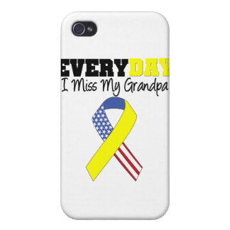 Everyday I Miss My Grandpa Military iPhone 4/4S Cover