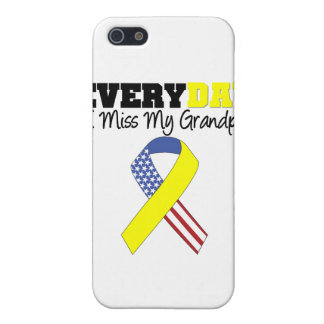 Everyday I Miss My Grandpa Military iPhone 5 Case