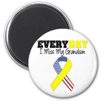 Everyday I Miss My Grandson Military Fridge Magnets