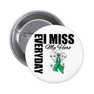Everyday I Miss My Hero Liver Cancer 6 Cm Round Badge