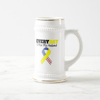 Everyday I Miss My Husband Military Beer Steins