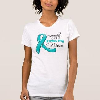 Everyday I Miss My Niece Ovarian Cancer Tee Shirt