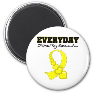 Everyday I Miss My Sister-in-Law Military 6 Cm Round Magnet
