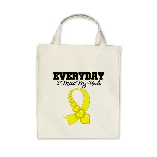 Everyday I Miss My Uncle Military Tote Bags