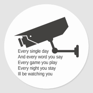 Everyday I'm Watching You Sticker
