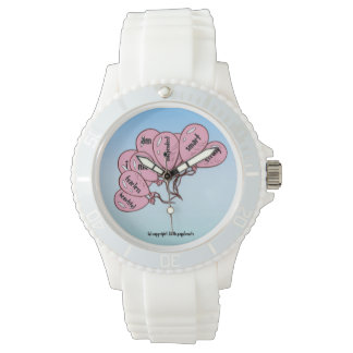 Everyday Inspiration - Pink Balloon Collection Wrist Watch