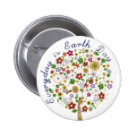 Everyday is earth day 6 cm round badge