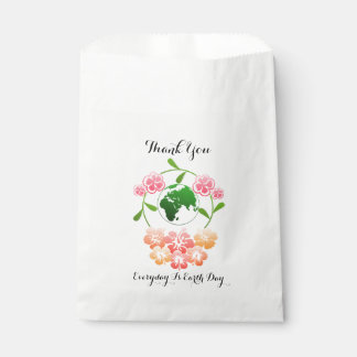 """Everyday is Earth Day"" Floral Favor Bags. Favour Bags"