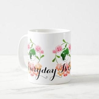 """Everyday is Earth Day"" Floral Mug. Coffee Mug"
