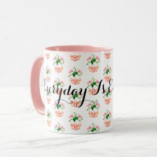 """Everyday is Earth Day"" Floral Mug. Mug"