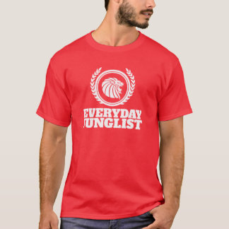 Everyday Junglist T-Shirt - DNB Drum & Bass Red