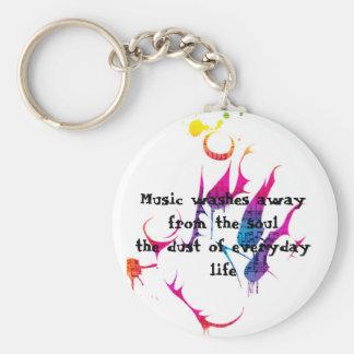 Everyday Life Basic Round Button Key Ring