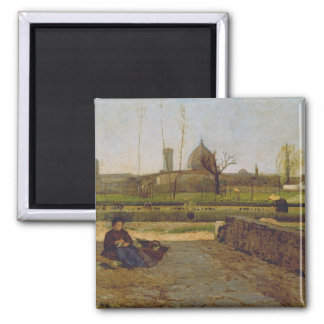 Everyday Scene, near Florence, c.1865 Square Magnet