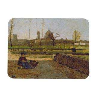 Everyday Scene, near Florence, c.1865 Rectangular Photo Magnet