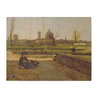 Everyday Scene, near Florence, c.1865 Wood Print