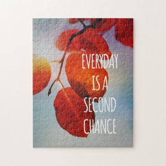 Everyday Second Chance Autumn Leaves Inspirational Jigsaw Puzzle