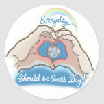 Everyday Should Be Earth Day Round Sticker