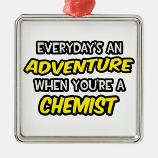 Everyday's An Adventure ... Chemist Christmas Ornament