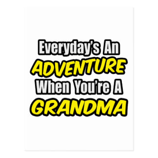 Everyday's An Adventure..Grandma Postcard
