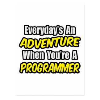 Everyday's An Adventure...Programmer Postcard