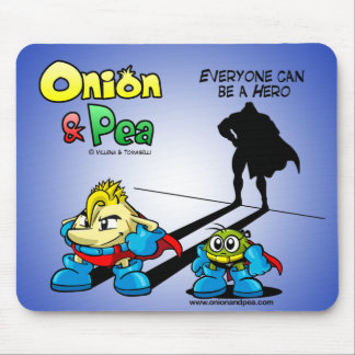 Everyone dog sees Hero Onion & Pea mousepad. Mouse Mat